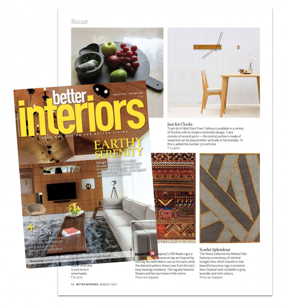 Just For Clocks And Tothora In Better Interiors Magazine