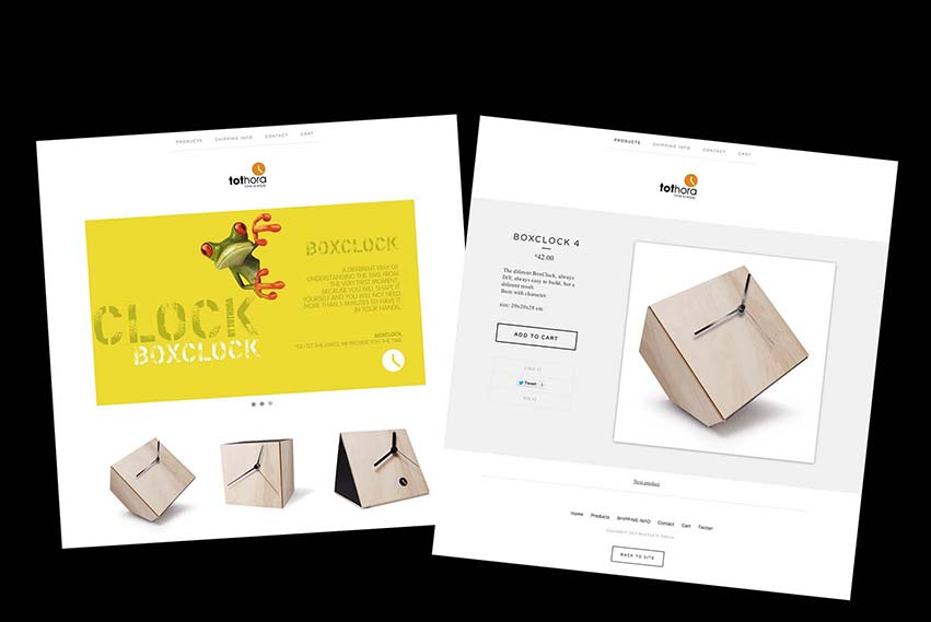 Online store for Boxclock collection by Tothora