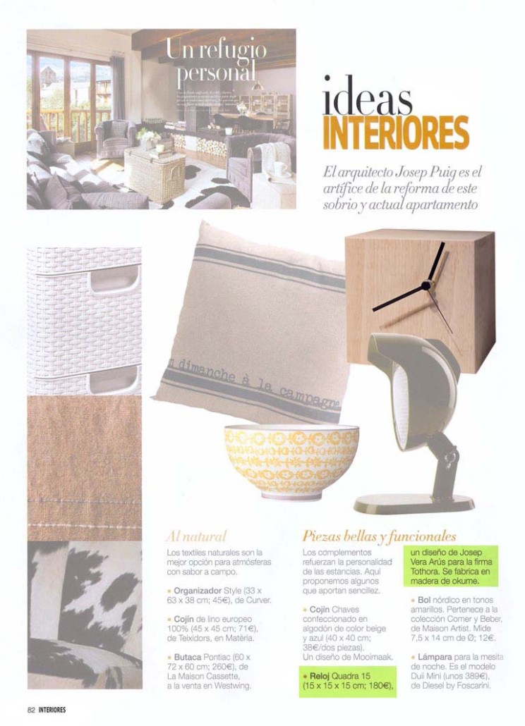Tothora on %22INTERIORES%22 magazine